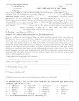 English language test no 4