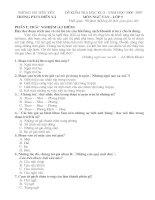 Bộ đề kiểm tra văn 9 kỳ II