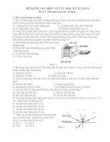 Đề kiểm tra HK II Vât Lý 9-Đề 2
