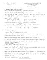 Đề và đáp án Toan 12 thi học kỳ 1