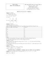 Đề thi HKII lớp 10 Môn Toán