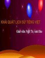 Khái quát lịch sử tiếng Việt
