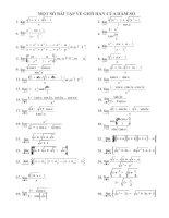 Bài tập: Giới hạn hàm số