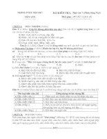 Đề kiểm tra Ngữ văn 8 (Tiếng Việt - HK I)