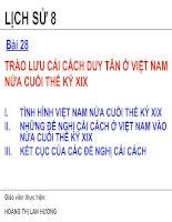 Bài 28: Trào lưu cải cách Duy Tân ở Việt Nam cuối thế kỉ XVIII