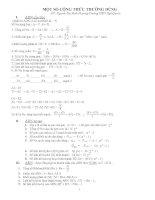 Một số công thức DT cấp độ phân tử