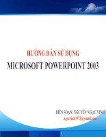Huong dan su dung PowerPoint 2003