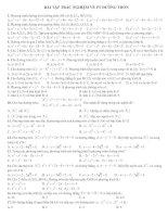 Bài tập: Phương trình đường tròn