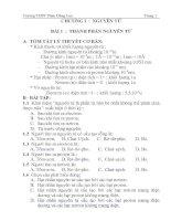 bài tập hóa 10 học kỳ 1