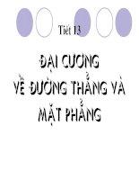 dai cuong ve duong thang va mat phng