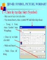 Bài giảng Word Symbol picture WordArt