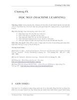 HỌC MÁY (MACHINE LEARNING)