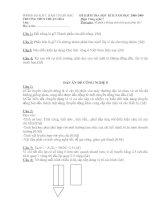 Bộ đề thi+Đáp án Công nghệ 7-8 (THCS Thuận Hòa)