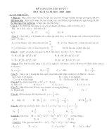 Đề cương ôn tập toán 7 Kì II 2006-2007