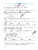 Bài tập trắc nghiệm vật lí 12