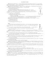 bài tập tự luận dao động cơ học