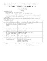 kế hoạch ôn tập HKII 2008(THCS vĩnh xương-angiang)