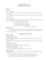Đề thi và đáp án học kí 1môn Ngữ văn lớp 9 (mới)