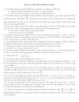 Bài tập thể tích khối đa diện