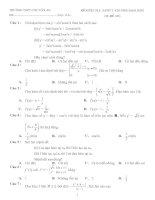 Kiểm tra chương Đạo hàm (đề 2)