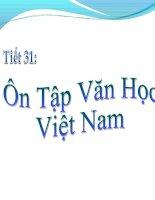 Tiết 31: Ôn tập Văn Học Việt Nam