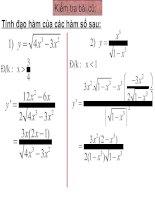 Chương V - Bài 3: Đạo hàm của các hàm số lượng giác