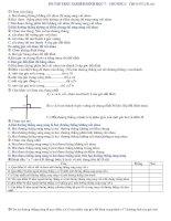 Trắc nghiệm Hình Học 7.Chương I