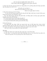 đề thi HK I ngữ văn 12