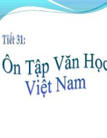 Tiết 31: Ôn tập văn học Việtt nam