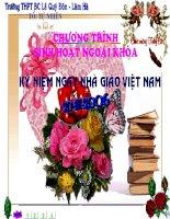 Ngoại khóa: Chào mừng ngày nhà giáo Việt Nam