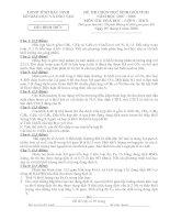 De thi HSG hoa 9 Tỉnh Băc Ninh 07 -08