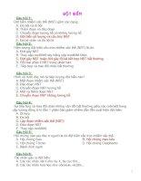 Ngân hàng câu hỏi trắc nghiệm sinh 9