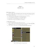 Giáo trình Excel chi tiết