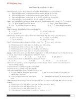 700 câu trắc nghiệm ôn thi tốt nghiệp Vật lý 12