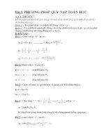 Bài tập phương pháp chứng minh quy nạp(có tóm tắt lý thuyết dầy đủ)
