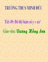 Chương IV - Bài 2: Đồ thị của hàm số y = ax2 (a khác 0)