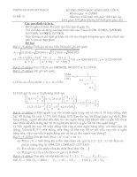đề thi giải toán trên máy tính cầm tay casio