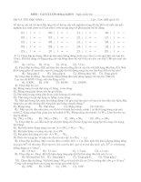 Kiểm tra Vật lý 10 học kỳ II
