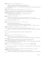 bài tập về khảo sát hàm số