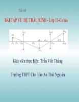 Bài 30_Tiết 60 Bài tập về hệ thấu kính 11CB
