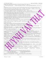ôn tập k11 cơ bản HKII