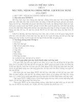 Giáo án thể dục 6(đủ bộ)