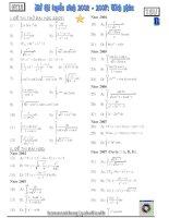Bài tập tích phân ĐTTS