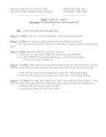 Đề kiểm tra kì I - Vật lý 8