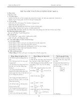Giáo án Đại số 10 chương VI (nâng cao)