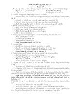 200 Bài tập trắc nghiệm Vật lý 10 CB