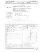 Chương II - Bài 5: Hệ số góc của đường thẳng y = ax + b (a khác 0)