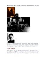 Marie Curie (1867 - 1934) Nữ bác học lừng danh nhất thế giới