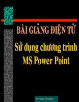 Bài giảng điện tử sử dụng chương trình MS Power point