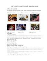 Bài trắc nghiệm GDCD lớp 6